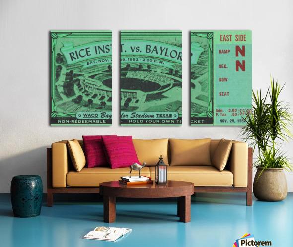 1952 Rice Owls vs. Baylor Bears Split Canvas print