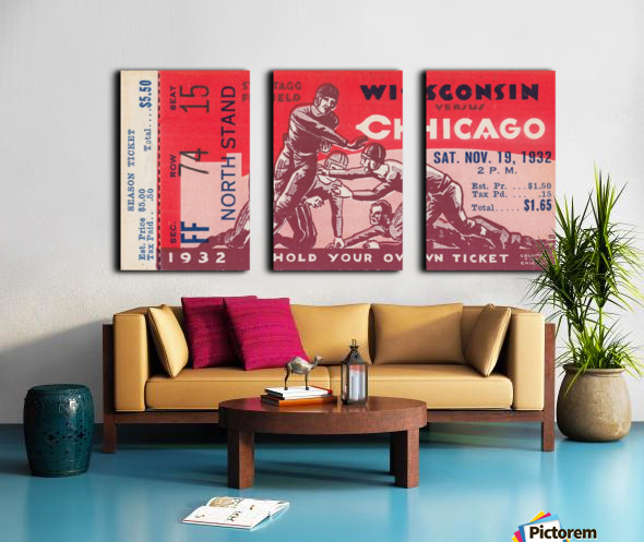 1932 Wisconsin Badgers vs. Chicago Maroons Split Canvas print