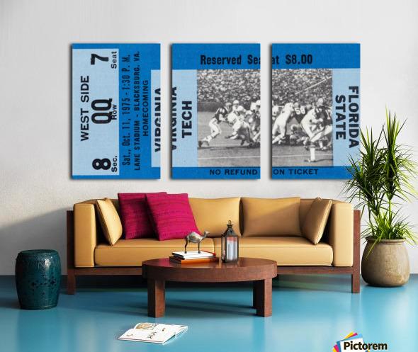 1975 Virginia Tech Gobblers vs. Florida State Seminoles Split Canvas print