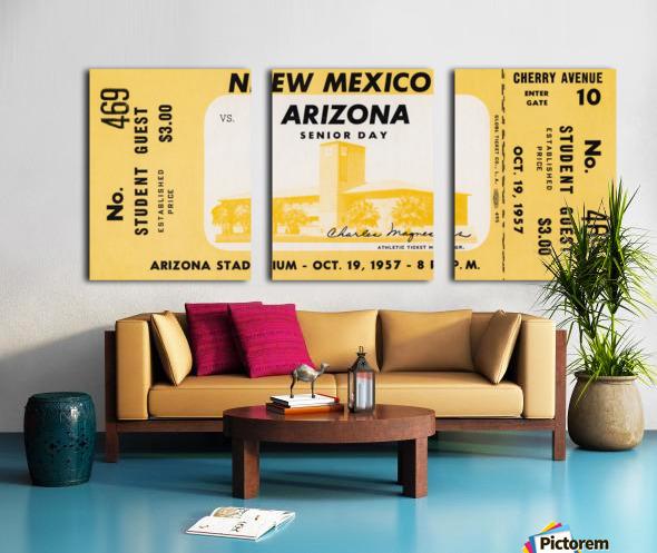 1957 Arizona Wildcats vs. New Mexico Lobos Split Canvas print
