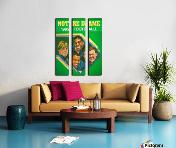 1985 Notre Dame Retro Football Poster Split Canvas print