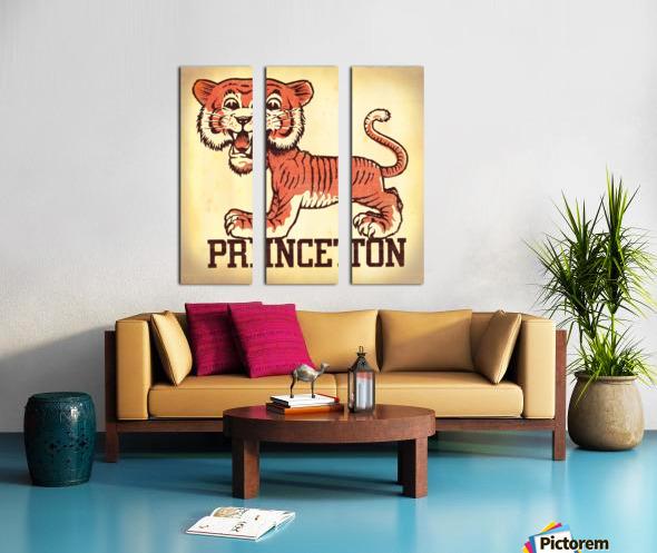 Vintage Fifties Princeton Tiger Remix Art Split Canvas print