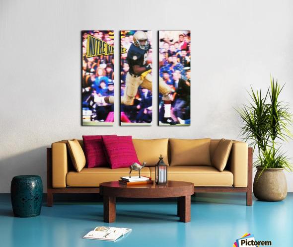 Retro Notre Dame Tim Brown Football Art Split Canvas print