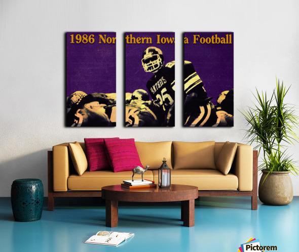 1986 Northern Iowa Panthers Football Poster Split Canvas print