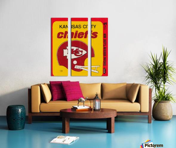 1980 Kansas City Chiefs Fleer Decal Art Split Canvas print