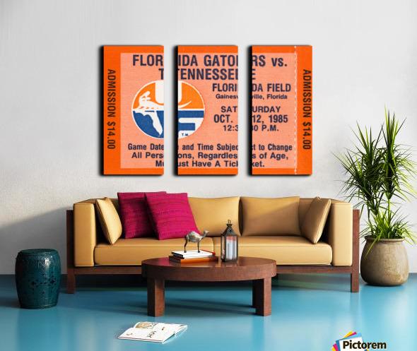 1985 Florida Gators vs. Tennessee Vols Split Canvas print