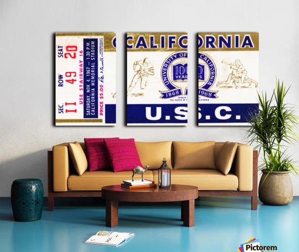 1967 California Bears vs. USC Trojans Split Canvas print