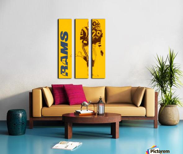 1986 LA Rams Football Art Split Canvas print