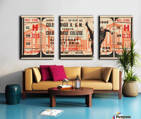 1946 Colorado College Tigers  vs. Colorado A&M Aggies Split Canvas print