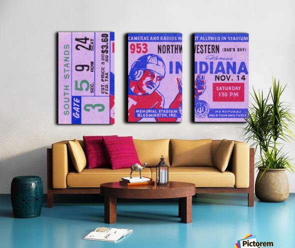 1953 Indiana Hoosiers vs. Northwestern Wildcats Split Canvas print