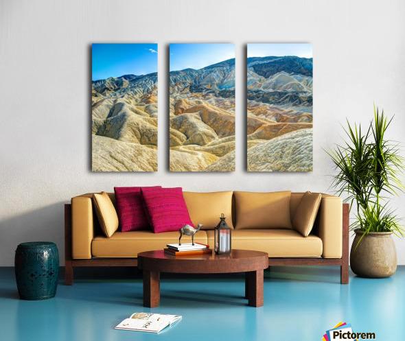 Death Valley Waves Split Canvas print