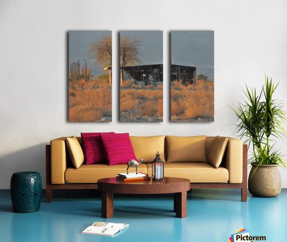 Abandoned in the Desert Split Canvas print