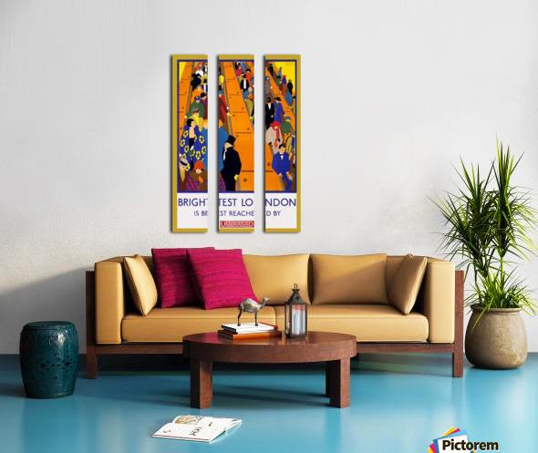 Brightest London travel poster Split Canvas print