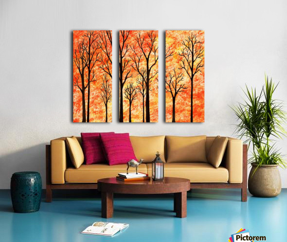 Autumn Forest Abstract  Split Canvas print