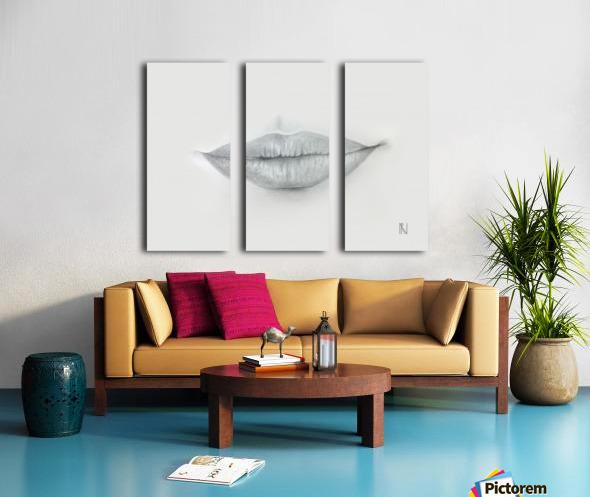 Mouth Split Canvas print