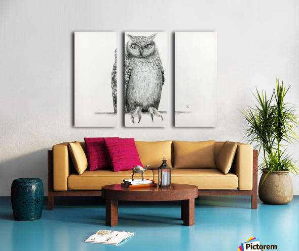 Qwl Split Canvas print