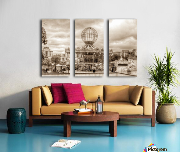 Paris Caroussel Split Canvas print
