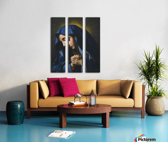 The Madonna at Prayer Split Canvas print