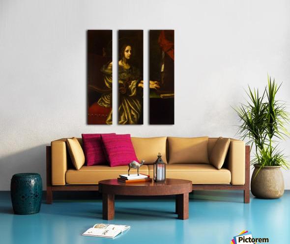 St Cecilia Split Canvas print