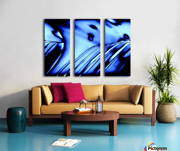 Aqua Blue Split Canvas print