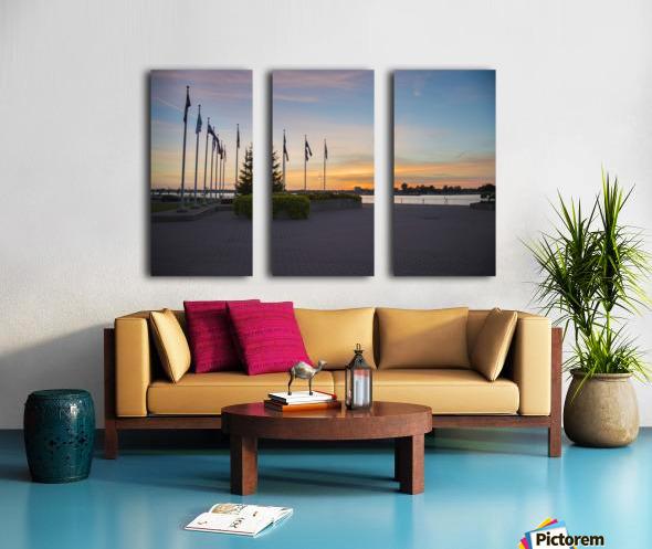 Sunset on the Lake Split Canvas print