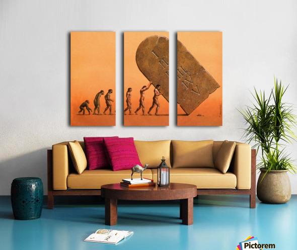 evolution Split Canvas print