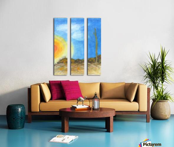 Solitude Split Canvas print