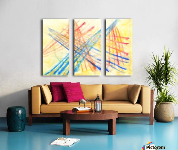 Scratches 2 (Joan Miro tribute) Split Canvas print