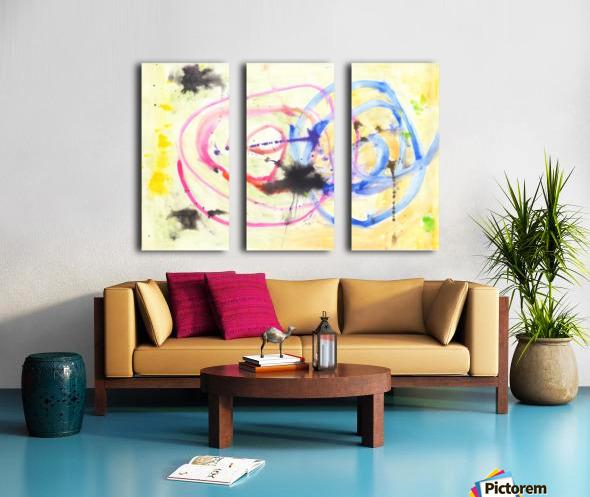 Relationship 1 (Joan Miro tribute) Split Canvas print
