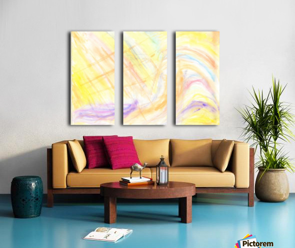Waves Split Canvas print