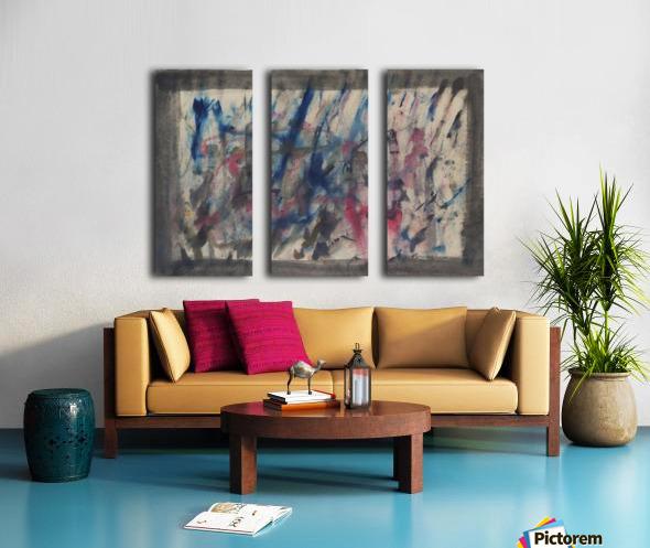 Anger 4 Split Canvas print