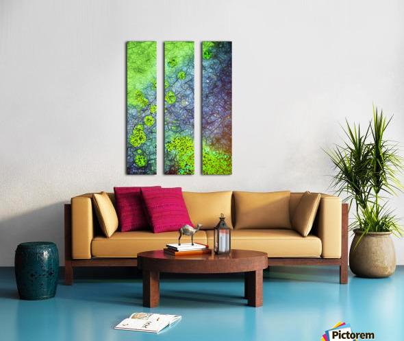 Green Paint Drops_120828_17039 HXSYV Split Canvas print