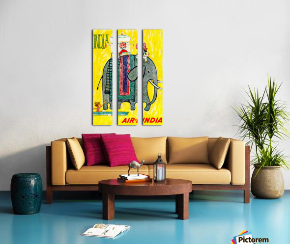 Air-India travel poster Split Canvas print