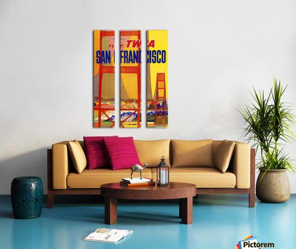 Fly TWA San Francisco poster Split Canvas print