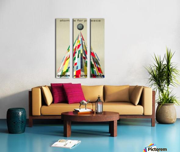 Atoms for Peace poster Split Canvas print