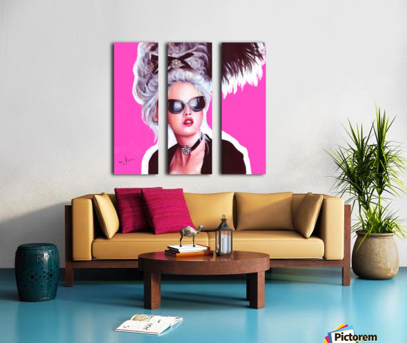 marie in black Split Canvas print