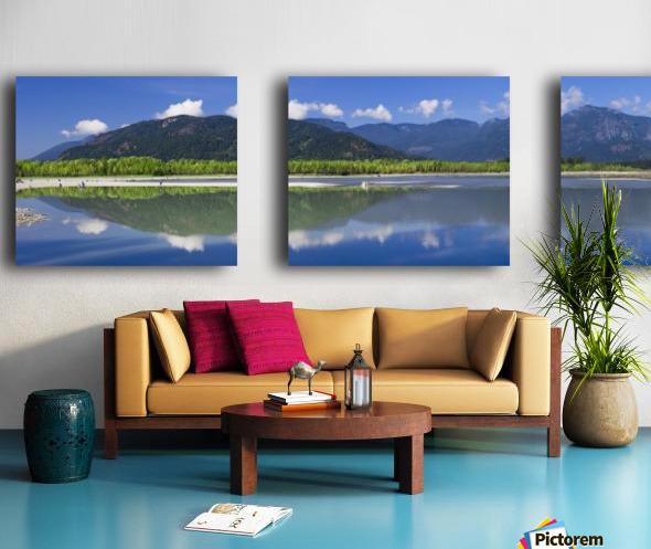Peg Leg Bar in the morning; Chilliwack, British Columbia, Canada Split Canvas print