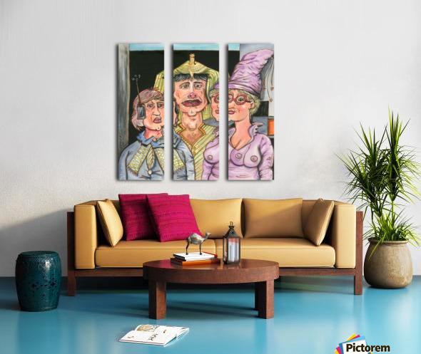 The Gluxx family Split Canvas print