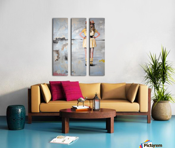 Circus Split Canvas print