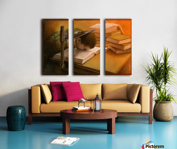 Book Split Canvas print