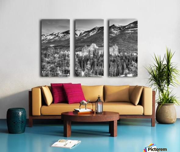 Banff_Hotel Split Canvas print