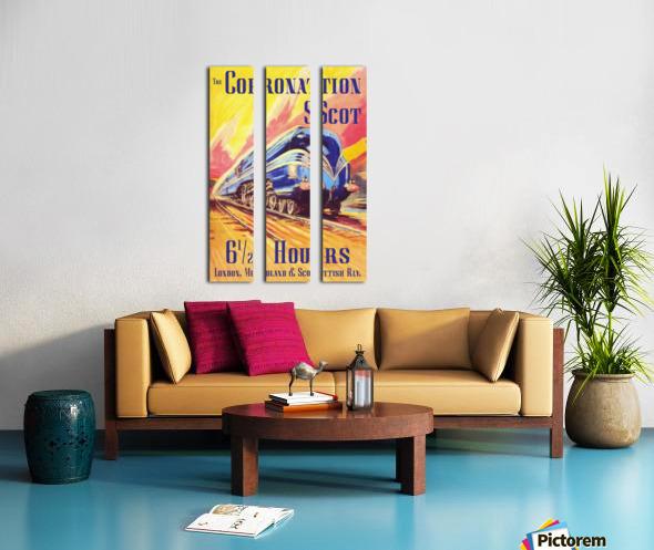 The Coronation Scot travel poster Split Canvas print