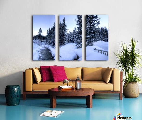Snowy crossing Split Canvas print