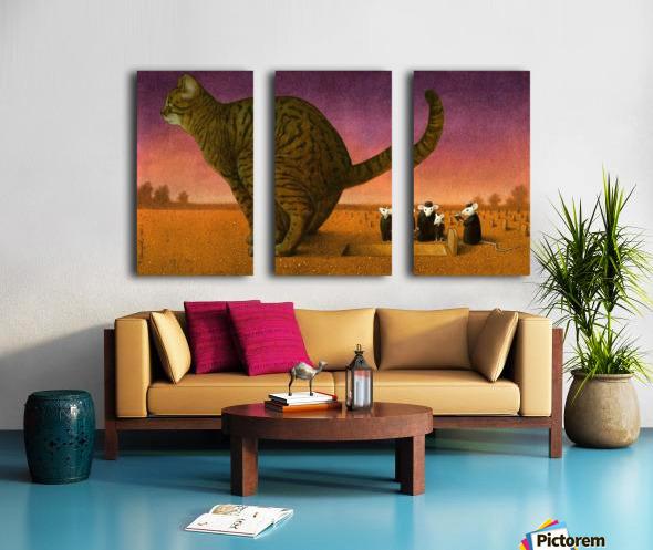 Cat Split Canvas print