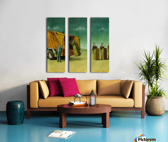 Cleaning Split Canvas print