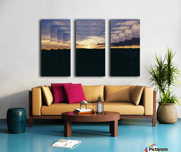 A  Manipulated Sunset Split Canvas print