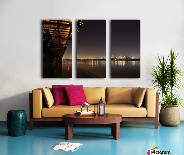 Cool Montreal Victoria Bridge Split Canvas print