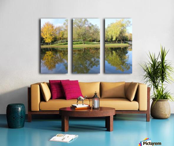 Tree reflection Split Canvas print