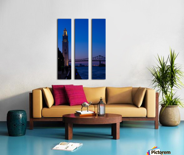 All Along the Clock Tower Split Canvas print