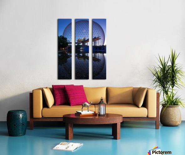 Reflections on Buckminster Split Canvas print